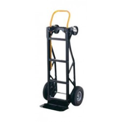 "Harper Trucks - PGDK1935P - Harper Senior Series PGD Dual Platform Hand Truck With 10"" X 3 1/2"" Pneumatic 2-Ply Tubeless Wheels, 5"" Poly Swivel Caster, Steel Handle And 7"" X 14 1/2"" Base Plate"