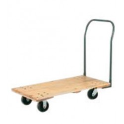 "Harper Trucks - WD3060M6 - Harper Series WD 3000 lb Platform Hand Truck With 6"" Mold-On Rubber Caster, Tubular Bent Back Handle, 24"" Base Plate, 30"" X 60"" Hardwood Deck And Non-Tilt Running Gear, ( Each )"
