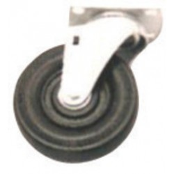 Harper Trucks - WH39 - Harper 5'' X 1 1/4'' Rubber Swivel Caster With Ball Bearing