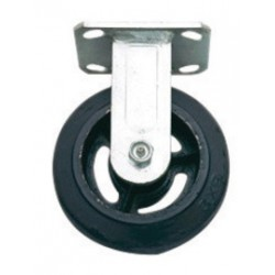 "Harper Trucks - WH53 - Harper 6"" X 2"" Mold-On Rubber Rigid Caster With Roller Bearing, ( Each )"