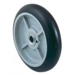 "Harper Trucks - WH55P - Harper 8"" X 2 1/4"" 400 lb Mold-On Balloon Rubber Wheel With 2 1/4"" Offset Poly Hub, ( Each )"