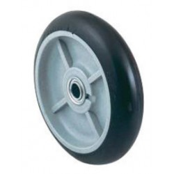 """Harper Trucks - WH56P - Harper 8"""" X 2 1/4"""" 400 lb Mold-On Balloon Rubber Wheel With 2 1/4"""" Offset Poly Hub And 3/4"""" Ball Bearing, ( Each )"""