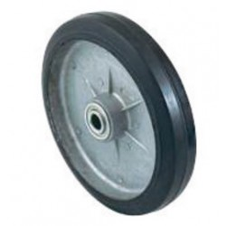 "Harper Trucks - WH61 - Harper 8"" X 1 5/8"" 450 lb Mold-On Rubber Wheel With 2"" Hub And 3/4"" Ball Bearing"