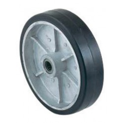 Harper Trucks - WH73 - Harper 8' X 2' 450 lb Mold-On Rubber Wheel With 2 1/4' Hub And 3/4' Roller Bearing