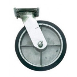 "Harper Trucks - WH91 - Harper 8"" X 2"" Mold-On Rubber Swivel Caster With Ball Bearing, ( Each )"