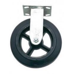 "Harper Trucks - WH93 - Harper 8"" X 2"" Mold-On Rubber Rigid Caster With Roller Bearing, ( Each )"