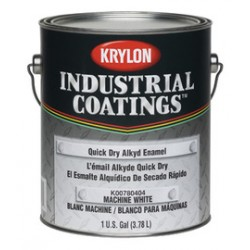 Krylon - K00780404-16-CA - Krylon Products Group 1 Gallon Can Machine White Industrial Coatings Series 78 Quick Dry Alkyd Enamel Paint (4 Per Case), ( Case of 4 )