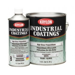 Krylon - K04080404-16-CA - Krylon Products Group 1 Gallon Can White Industrial Coatings Series K0408 Polyurethane Paint Part A (4 Per Case), ( Case of 4 )