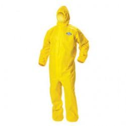 Kimberly-Clark - 09814-CA - Kimberly-Clark Professional* X-Large Yellow KleenGuard* A70 1.5 mil Polpropylene/Polyethylene Coveralls, ( Case of 12 )