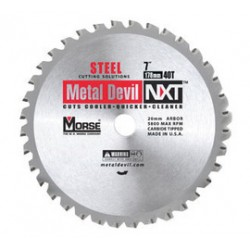 M.K. Morse - CSM72548NSC - Morse 7 1/4' X 5/8' KO 5800 RPM 48 TPI Metal Devil NXT Carbide Tipped Circular Saw Blade (For Metal Cutting), ( Each )
