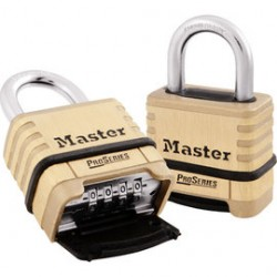 Master Lock - 1175RS - Master Lock Brass Brass Combination Security Padlock Boron Alloy Shackle, ( Each )