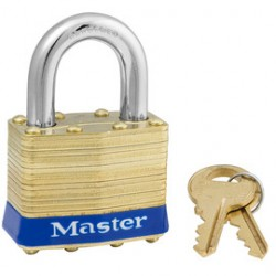 Master Lock - 1-CA - Master Lock Silver Laminated Steel General Security Padlock Hardened Steel Shackle, ( Case of 24 )