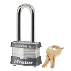 "Master Lock - 3LHINK - Master Lock Silver Laminated Steel Rectangular Pin Tumbler Padlock With 9/32"" X 2"" X 5/8"" Shackle And (2) Keys (Keyed Differently)"