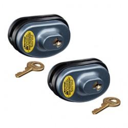 Master Lock - 90TSPT - Master Lock Black/Blue Steel/Zinc Gun Lock