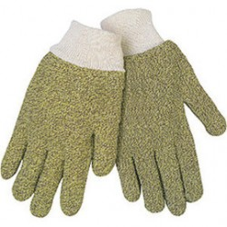 Memphis Glove - 9430KM - Memphis Glove Large Brown And Yellow Regular Weight Loop-Out Kevlar Cotton Blend Terry Cloth Heat Resistant Gloves With Knit Wrist Cuff