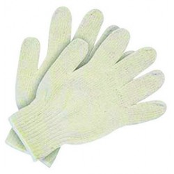 Memphis Glove - 9510LM - Memphis Large Natural Cotton Uncoated Work Gloves With Knit Wrist
