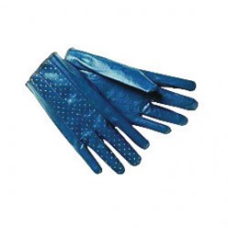 Memphis Glove - 9730M - Memphis Medium The Consolidator Abrasion Resistant Blue Nitrile Palm Coated Work Gloves With Interlock Liner And Slip-On Cuff