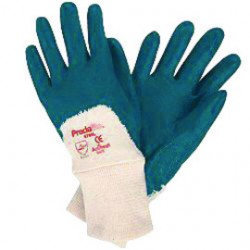 Memphis Glove - 9780M - Memphis Medium Predalite Light Weight Blue Nitrile Dipped Palm Coated Work Gloves With Interlock Liner And Knit Wrist