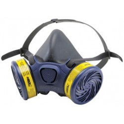 Moldex - 7601 - Moldex Small Thermoplastic Elastomer Half Mask APR Dual Cartridge Pre-assembled Respirator With Adjustable Strap Suspension And Bayonet Connection (1 Each Per Bag, 12 Bags Per Case)