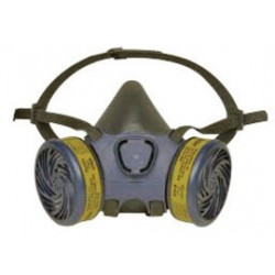 Moldex - 7603 - Moldex Large Thermoplastic Elastomer Half Mask APR Dual Cartridge Pre-assembled Respirator With Adjustable Strap Suspension And Bayonet Connection (1 Each Per Bag, 12 Bags Per Case)