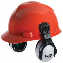 MSA - 10061230 - MSA EXC Black And Gray Helmet Mount Earmuffs For Hard Hats