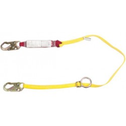 MSA - 10088120 - MSA 6' Sure-Stop Nylon/Steel Cable Single-Leg Shock-Absorbing Lanyard With 36C Harness Connection And Anchorage Connection, ( Each )