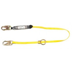 MSA - 10113163 - MSA 6' Workman Twin-Leg Energy-Absorbing Lanyard With 36C Snap Hook Harness And 36CL Snap Hook Anchorage Connections, ( Each )