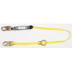 MSA - 10129118 - MSA 6' Workman Single Leg Energy-Absorbing Adjustable Lanyard With LC Snap Hook Harness, Anchorage Connections And Tie-Back Connection, ( Each )