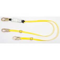 MSA - 10129152 - MSA 6' Workman Twin Leg Energy-Absorbing Adjustable Lanyard With LC Snap Hook Harness And (2) LC Anchorage Connections, ( Each )