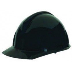 MSA - 454729 - MSA Black TopGard Polycarbonate Cap Style Hard Hat With Staz On 4 Point Pinlock Suspension