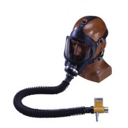 MSA - 460863 - MSA Full Face Constant Flow Airline Respirator Assembly (Includes Black Medium Hycar Ultravue Full Facepiece, Hose, Web Support Belt, Snap-Tite Aluminum Quick-Disconnect And High Pressure Control Valve)
