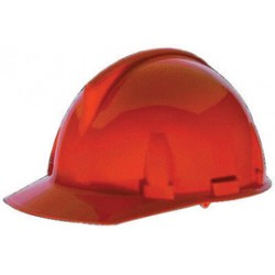 MSA - 475382 - MSA Orange TopGard Polycarbonate Cap Style Hard Hat With Fas Trac Ratchet Suspension