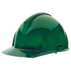 MSA - 475383 - MSA Green TopGard Polycarbonate Cap Style Hard Hat With Fas Trac Ratchet Suspension