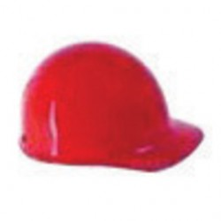MSA - 475398 - MSA Red Skullgard Phenolic Cap Style Hard Hat With Fas Trac Ratchet Suspension