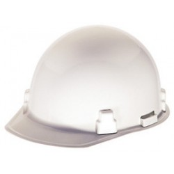 MSA - 486965 - MSA White Thermalgard Glass Reinforced Nylon Cap Style Bump Cap With 1 Touch 4 Point Pinlock Suspension, Beaded Edge, Slots For Mounting Hearing Protection, Welding Shields And Faceshields