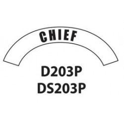 MSA - D203 - MSA D203 Vinyl Chief Title Tape For Use With Cairns Fire And Rescue Helmets, ( Each )