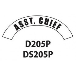 MSA - D205 - MSA D205 Vinyl Ass't Chief Title Tape For Use With Cairns Fire And Rescue Helmets, ( Each )