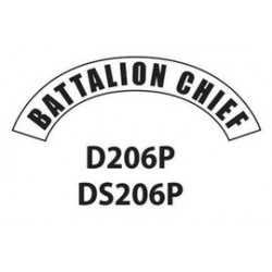 MSA - D206 - MSA D206 Vinyl Battalion Chief Title Tape For Use With Cairns Fire And Rescue Helmets, ( Each )