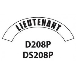 MSA - D208 - MSA D208 Vinyl Lieutenant Title Tape For Use With Cairns Fire And Rescue Helmets, ( Each )