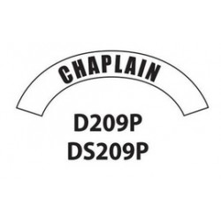 MSA - D209 - MSA D209 Vinyl Chaplain Title Tape For Use With Cairns Fire And Rescue Helmets, ( Each )