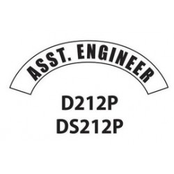 MSA - D212 - MSA D212 Vinyl Ass't Engineer Title Tape For Use With Cairns Fire And Rescue Helmets, ( Each )