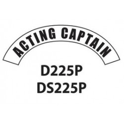 MSA - D225 - MSA D225 Vinyl Acting Captain Title Tape For Use With Cairns Fire And Rescue Helmets, ( Each )