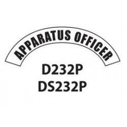 MSA - D232 - MSA D232 Vinyl Apparatus Officer Title Tape For Use With Cairns Fire And Rescue Helmets, ( Each )