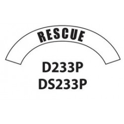 MSA - D233 - MSA D233 Vinyl Rescue Title Tape For Use With Cairns Fire And Rescue Helmets, ( Each )