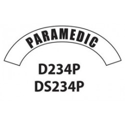 MSA - D234 - MSA D234 Vinyl Paramedic Title Tape For Use With Cairns Fire And Rescue Helmets, ( Each )
