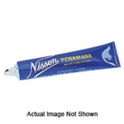 "Nissen - 00264 - Nissen Blue Ball Point Low Chloride Metal Paint Marker With 3/16"" Wide Point"