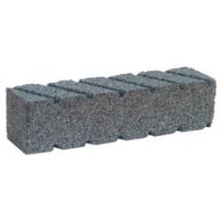 "Norton - 61463687845 - Norton 8"" X 2"" X 2"" Extra Coarse Grit Crystolon C20 Silicon Carbide Fluted Rectangular Hand Rubbing Brick Sharpening Stone"