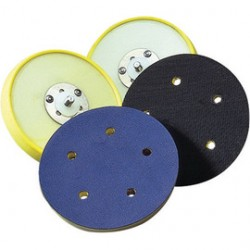 "Norton - 63642506131 - Norton 5"" X 5/16"" X 1/2"" X 5/16"" - 24 Polyurethane Foam Medium Density PSA Low-Profile Backing Pad (For Use With Dual Action Or Random Orbital Sanders)"