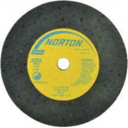"Norton - 66243522381 - Norton 2 1/2"" X 1/2"" X 3/8"" 24 Grit Very Coarse 57A24-RBRA Aluminum Oxide Gemini Portable Type 1 Straight Snagging Wheel"