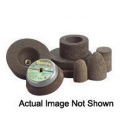 """Norton - 66243528831 - Norton 3"""" X 1/4"""" X 3/8"""" 24 Grit 57A24-TBRA Aluminum Oxide GEMINI Snagging Type 1 Straight Snagging Wheel For Use With Horizontal or Straight Shaft Grinder On Steel And Stainless Steel"""